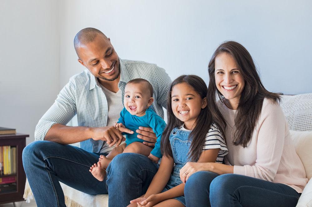 Family Dentist Framingham | Happy family smiling.